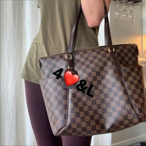 Damier Ebene Totally MM Tote Bag by Louis Vuitton